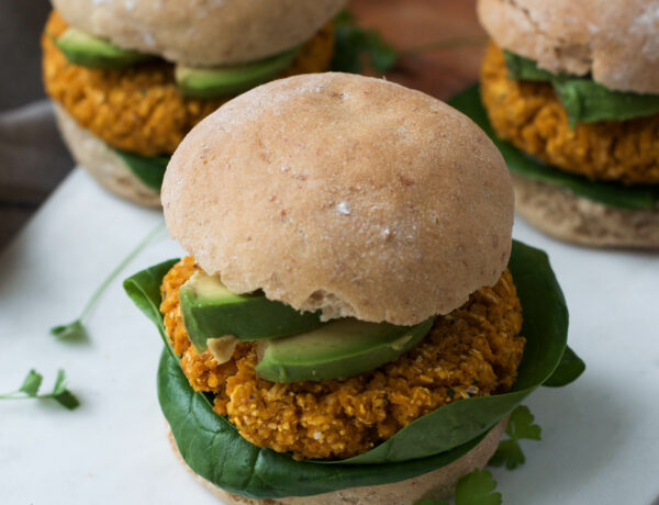 Millet Sweet Potato Burgers - Wanders and Greens