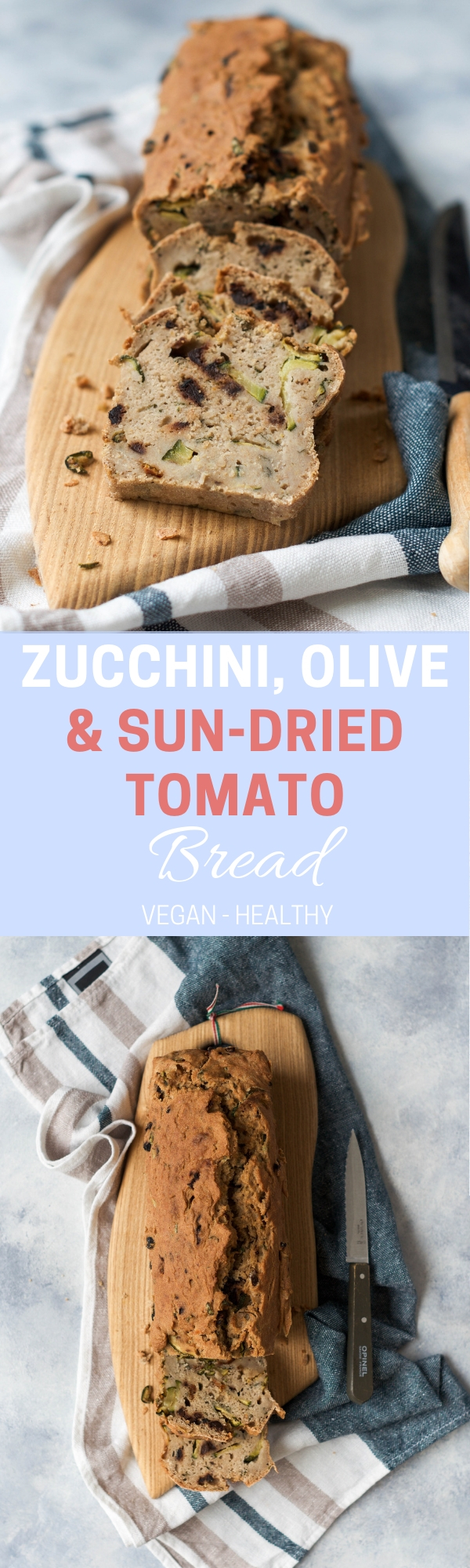 Zucchini, Olive and Sun-dried Tomato Bread - Wanders and Greens